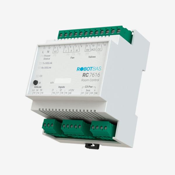 Controlador de habitaciones marca Robotbas modelo RC7616
