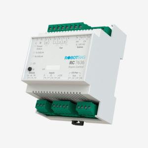 Controlador de habitaciones marca Robotbas modelo RC7636