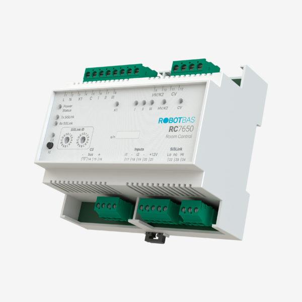 Controlador de habitaciones marca Robotbas modelo RC7650