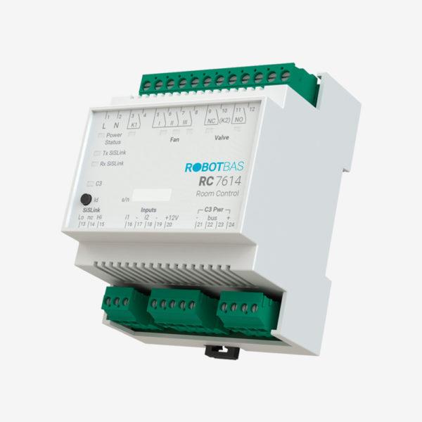 Controlador de habitaciones marca Robotbas modelo RC7614
