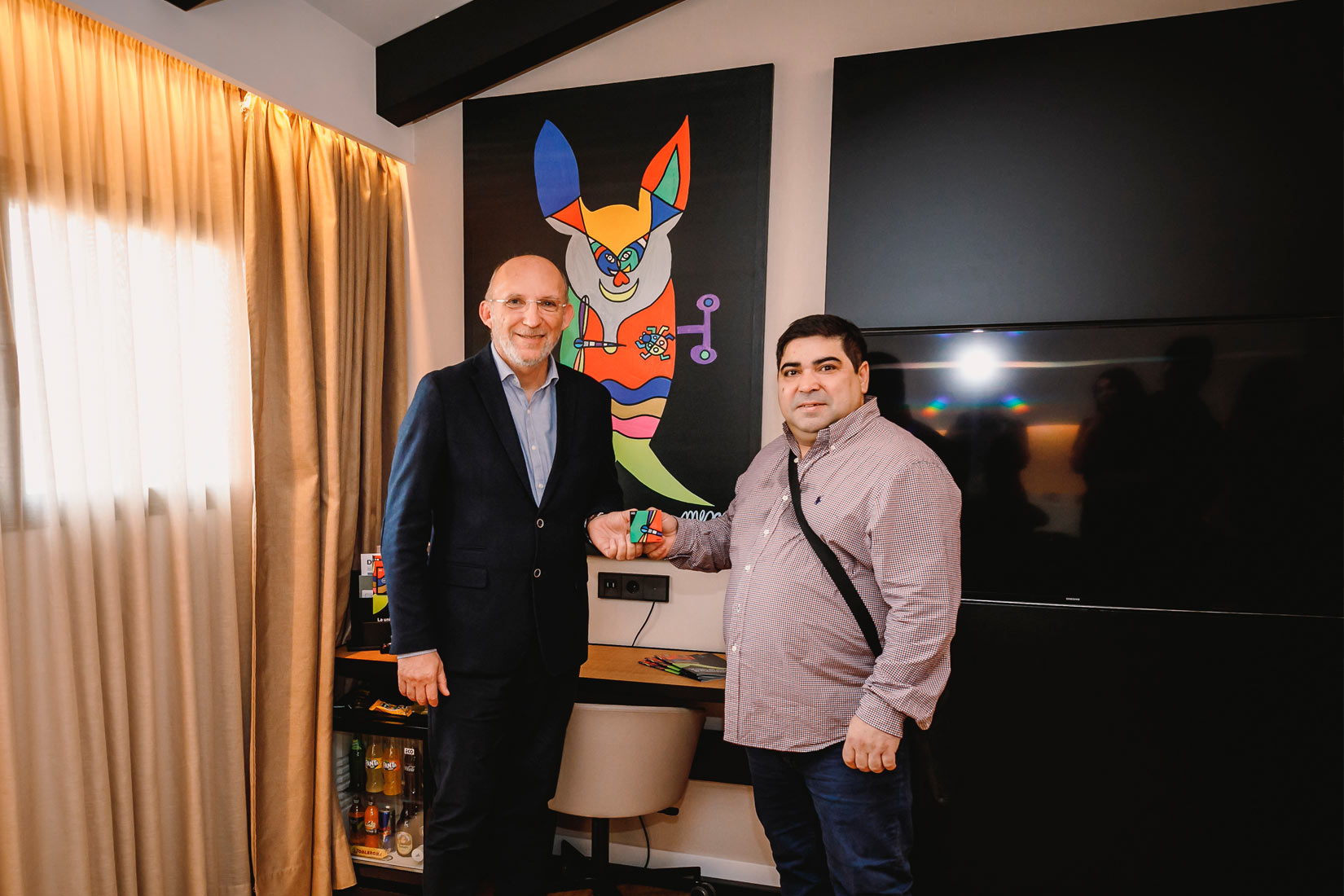 The art of Jose Luis Mesas and the technology of ROBOTBAS come together at the Nakar Hotel